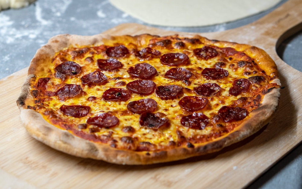 pepperoni pizza as an ideal snack for backcountry skiing and splitboarding